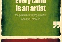 Art Inspiration Quotes / Little reminders to help us with our day... Art inspired quotes