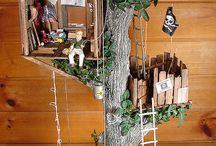 log tree dolls house