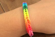 Loom bands bracelets / Braccialetti rainbowloom
