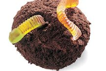 party food / Cakes with worms