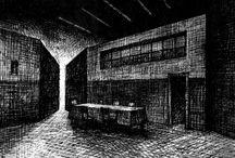 Projekty scenograficzne i ilustracje
