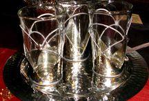 metalli,teiere ciotole bicchieri da the