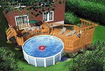 Pool decks/Backyard