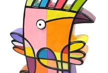 Vreemde Vogels / Funny objects, made by dutch artist Jacqueline Schafer. Kijk ook eens op www.jacqueline-schafer.nl
