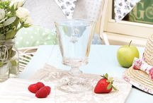 Inspired By Wimbledon / We've put together our favourite selection of celebration glassware and bowls, inspired by Wimbledon! Relax with a bowl of cold strawberries splashed in delicious cream whilst sipping a glass of crisp champagne, all served in one our fabulous tableware accessories.