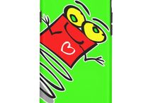Customizable cartoon robot and alien iPhone 6 cases / I drew these robots and aliens for my kindergarten students and they loved them. I made a phone case for myself and parents kept asking for them, so here they are ! All designs available for iPhone, iPad, and Galaxy phones, tablets and devices.
