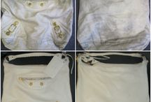 Balenciaga Handbags Repaired & Restored / Photos of stained, damaged, torn, dirty and worn out Balenciaga handbags and purses that we have lovingly cleaned and restored.
