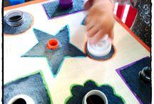 Activités intérieures / activités pour développer la motricité fine des enfants. Activités pour enfant inspirées de la méthode montessori. Activités d'intérieur en cas de pluie