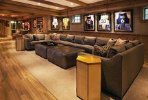 Sports cafe interior