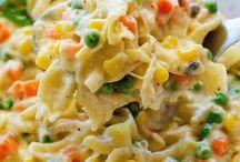 hoender pasta caserol