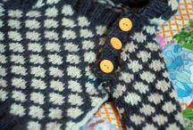 Mønstre til baby-strikk