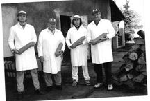 Aulicky familly manufacture butchery / Four generation of butchers, who made traditional meat products.