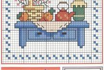 Punto a croce cucina