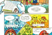 Super Mario Adventure Comics / Mario comics which were featured in the Nintendo Power magazines of the early 90's.  Read all of the Mario Adventure Comics online at http://www.superluigibros.com/mario-adventure-comics