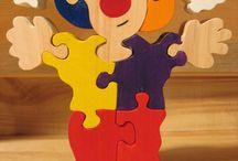 Деревянные игрушки, пазлы