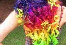peinados de color arcoiris