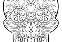 Coloring skulls