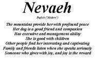 Hi my real name is Nevaeh