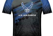 Military Cycling Jerseys / Cycling Jerseys - FREE Shipping in the US - Military, UASF, Army, Navy, USMC, USCG.  Show your support or a great gift Idea.  See even more choices at CycleGarb.com / by Cyclegarb.com