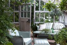 Garden Rooms / Rooms that bring the outdoors inside or vice versa. Either way, they are beautiful rooms in which I could happily spend a lot of time!