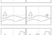 Children drawings - art tutorial