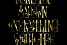 Calligraphy / Here's a collection of interesting calligraphic work.