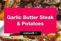 garlic potatoes steak