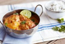 Nigel Slater's curry, can be mixed with seafood or veggies