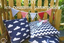 Housse coussin passepoil