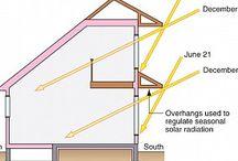 concrete house temperature regulering aka passive solar design