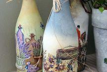 Bottle art / Creating pretty bottles for interiors..
