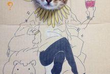 КРЕАТИВ. / Житель Китая выложил в своем блоге креативную серию фотографий своей кошки в виде персонажей японского аниме-сериала. Таким необычным способом владелец блога решил поздравить с днём рождения свою любимую кошку по имени Guagua.