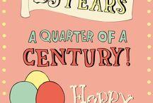 25ste Verjaardag Felicitaties