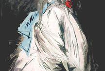 illustrations of fashion women