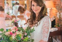 "Woodland Wedding Theme / Our bride Helen looked exquisite here in her wedding photos and it was an absolute pleasure to help this beautiful bride find her dream dress. Her lovely smile and delightful personality were a breath of fresh air every time she came to the boutique. She was wearing our ""Maud"" dress by Charlotte Balbier. Maud is a stunning ivory soft flowing chiffon gown with a lovely neckline. We think she looked absolutely gorgeous and so did her fiancé and their guests."