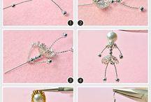 Gyöngyékszerek-drótozás, szerelőpálca, chain mail