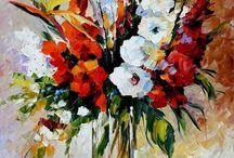 kvety na obrazoch