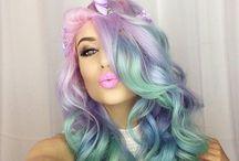 fun colourful hair