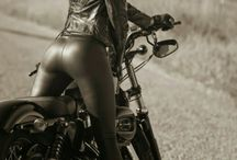 bikes girls and leather