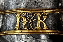 Medieval monograms / Use of single or paired letters to indicate an individual or couple.