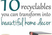 Creative recycling / Ben jij soms ook zo op zoek naar ideeën voor spullen, die je steeds maar weer moet weggooien of bewaart totdat je ze eindelijk kan gebruiken? Zoals tandenborstels, wc-rollen, kurken, eierdozen, flesdoppen, enz. Hopelijk vind je hier een oplossing!