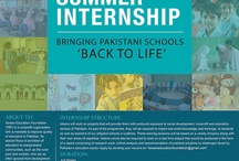 TEF Summer Internship Program / TEF is offering Summer Internship to students (from Lahore) a chance to works on projects that will provide them with profound exposure to social development, nonprofit and education sectors of Pakistan.  Eligibility: 'Enrolled in the 3rd or 4th year of Bachelor's program of Marketing or Social Sciences degree'  Stipend: A healthy stipend based on their qualification and performance. APPLY at: 'tareeneducationfoundation@gmail.com'.