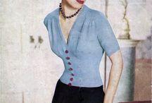 Vintage stick- och virkinspiration / 40- och 50-talsinspirerat mode i stickat och virkat.