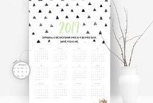 2017 Calendars // 2017 Kalendarze / Our calendars for 2017 / Nasze kalendarze na 2017