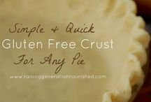 GF PIE Crust Party / It's all about the Pie crust here.  Being that gluten-free pie crust recipes are hard to come by, I've created a special board for this alone.  I'm hoping to fill up soon.