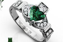 Claddagh Engagement Rings / Beautiful Custom Made Claddagh Rings