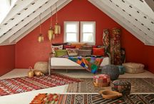 Bohemian Home Decor / Chromatic patterns and textiles with global spirit.