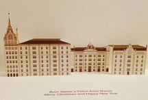 Hotels, Alberghi / Our 3D Pop-up kirigami postcards (Origamic architecture - Paper Architecture) are an Elegant and Refined article, Ideal for every occasion, Unique of its kind thanks to the original Three-dimensionality. The study and attention to details, as well as the high quality materials used for their production make them an Exclusive and Distinguishing item too. Our Popup kirigami greeting postcards are 100% Made in Italy. / by GIOVANNIRUSSOGRAFICO - Padova, Italy