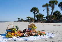 Picnic on the beach! / One of the many reasons I live in Florida! / by Kathy Parker