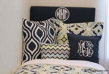 Kappa Kappa Gamma Sorority Bedding and Decor / Show your KKG spirit with custom monogrammed bedding and decor.  Pick your fabrics, add your letters and enjoy being surrounded by sorority love! / by Decor 2 Ur Door Bedding